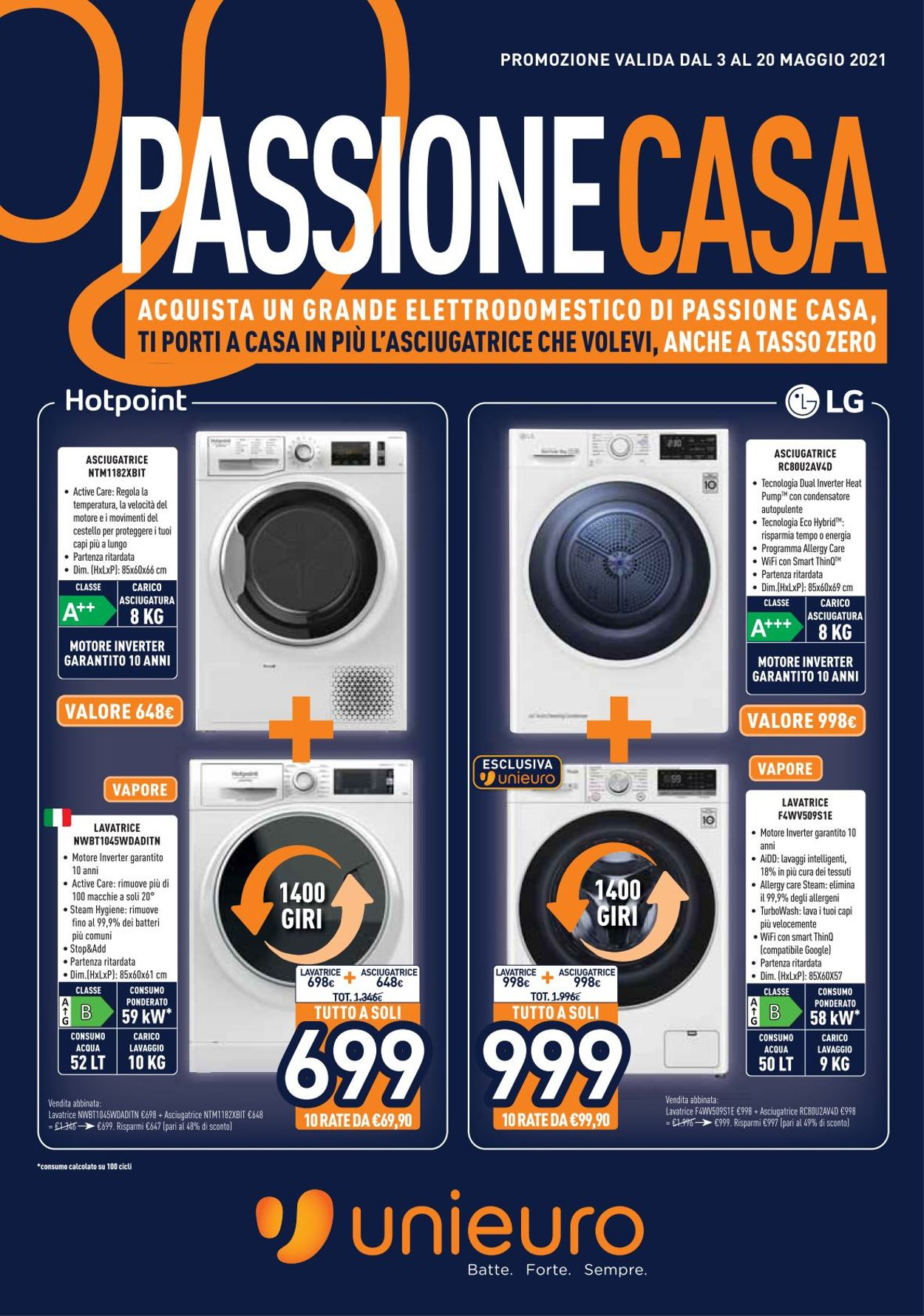 Volantino Unieuro - Offerte 03/05-20/05/2021