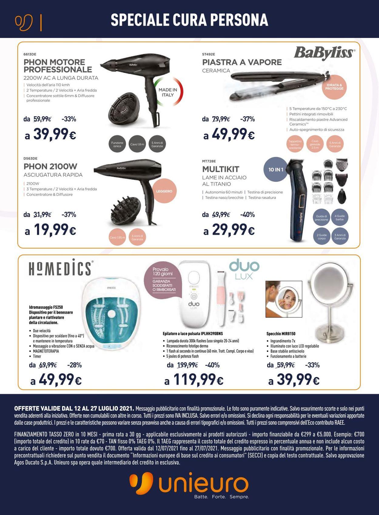 Volantino Unieuro - Offerte 12/07-27/07/2021 (Pagina 10)