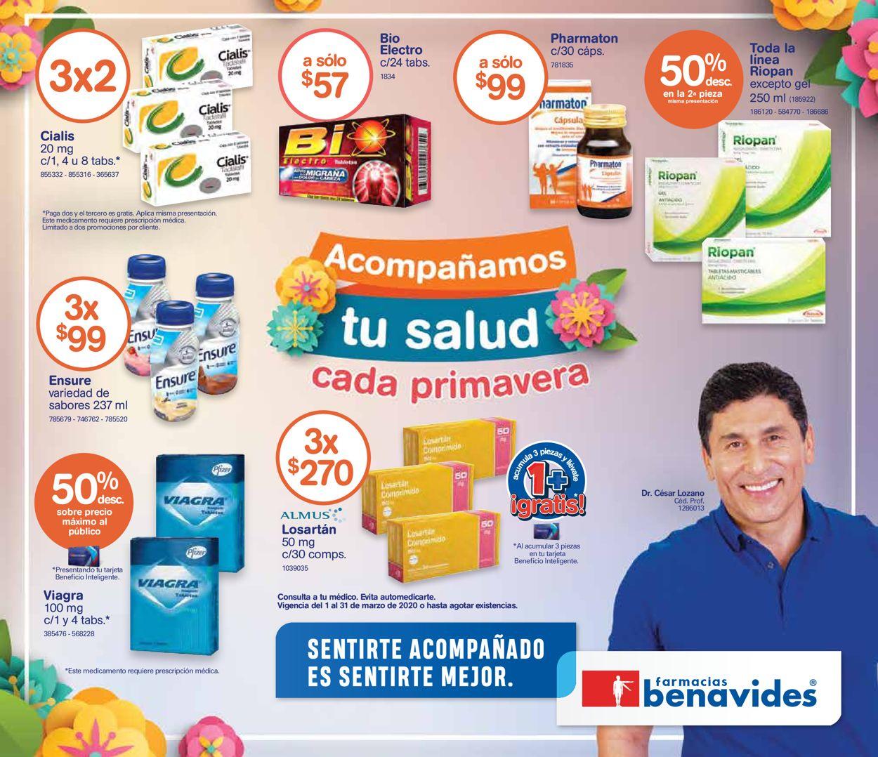 Farmacias Benavides Folleto - 01.03-31.03.2020