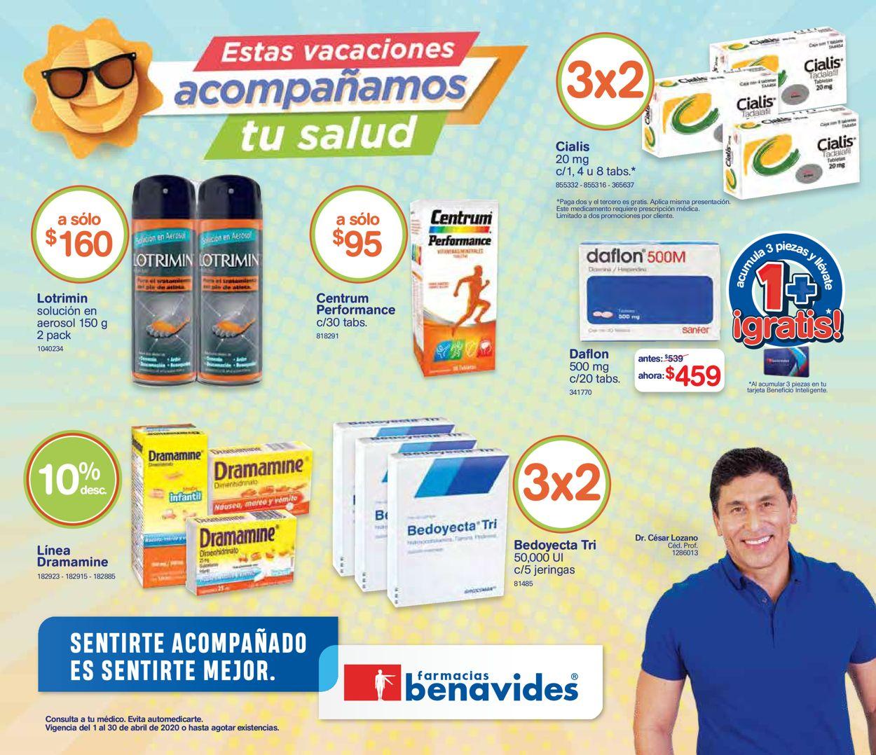 Farmacias Benavides Folleto - 01.04-30.04.2020