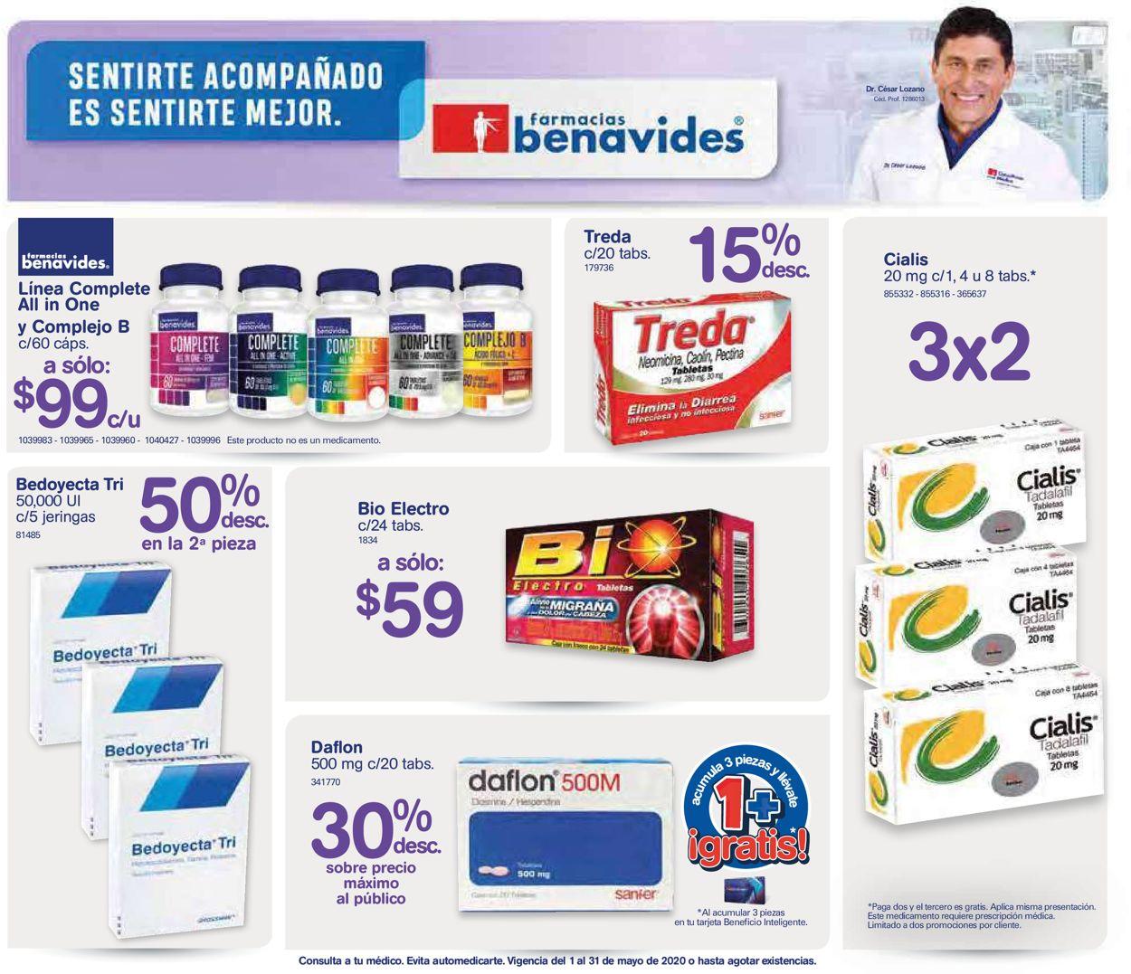 Farmacias Benavides Folleto - 01.05-30.05.2020
