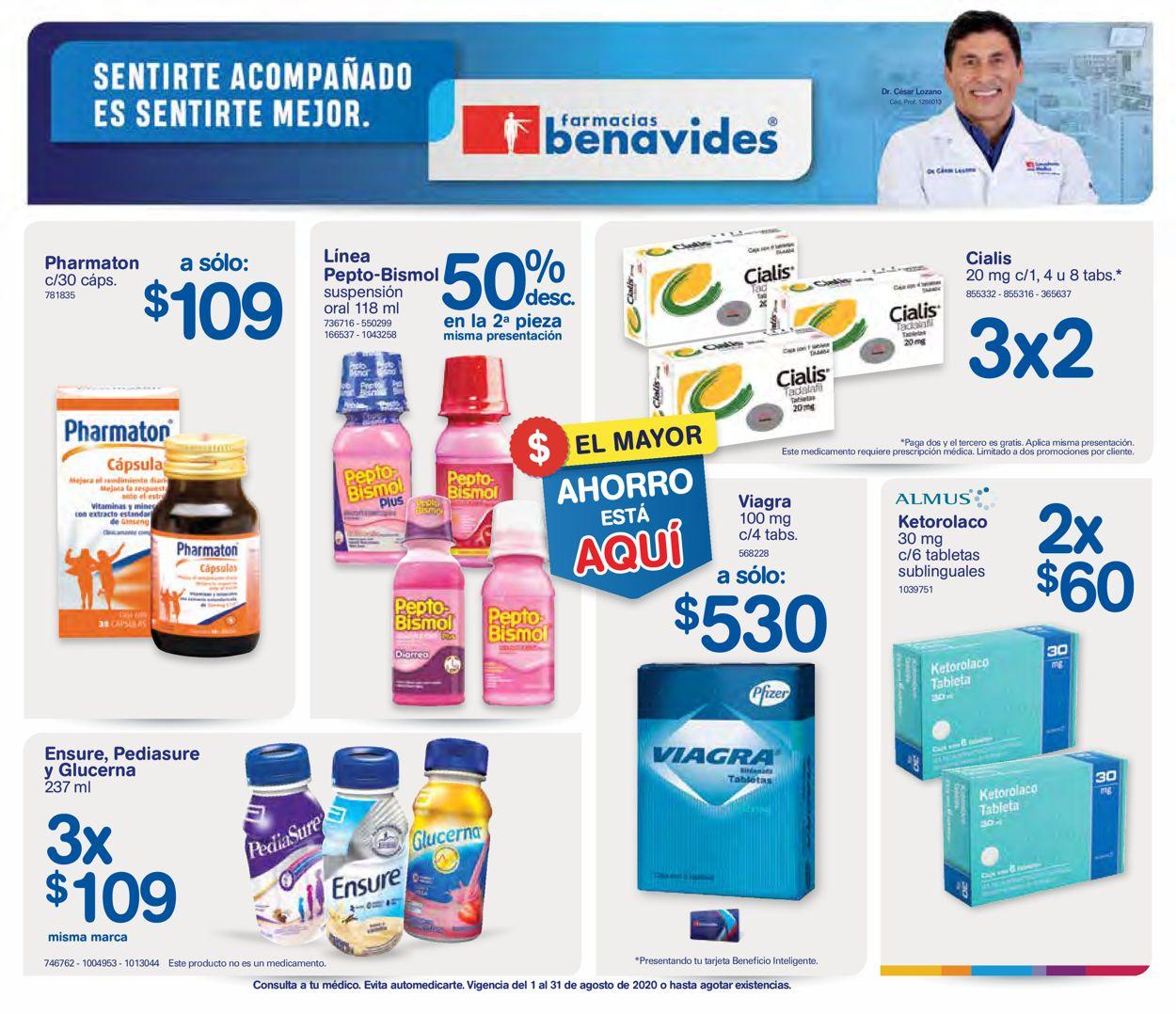 Farmacias Benavides Folleto - 01.08-31.08.2020