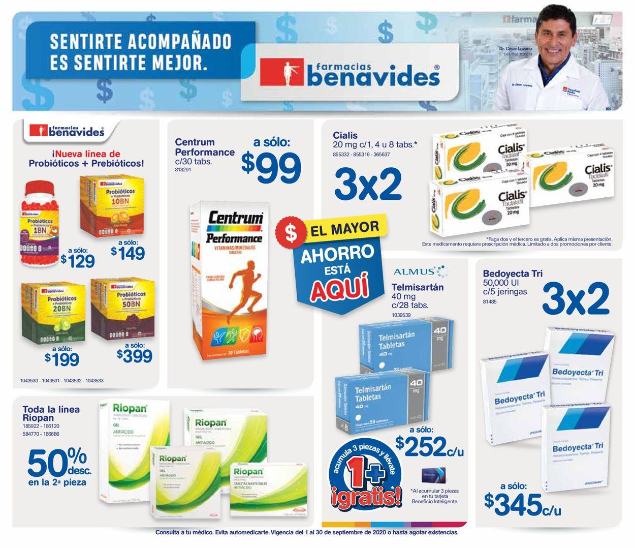 Farmacias Benavides Folleto - 01.09-30.09.2020