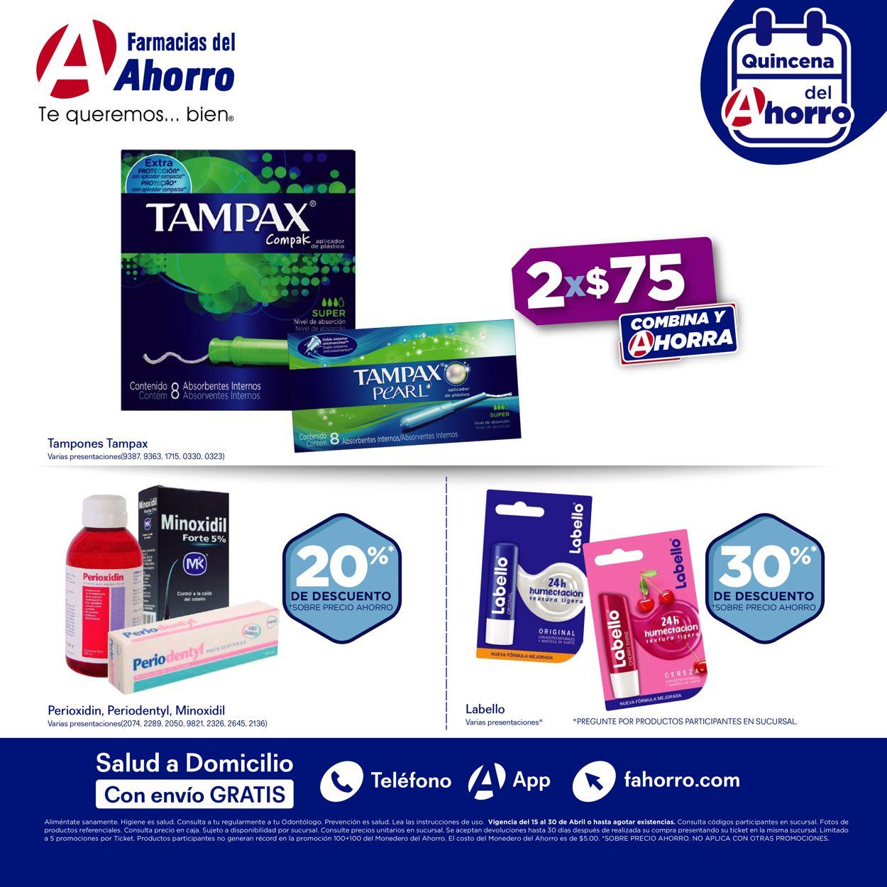 Farmacias del Ahorro Folleto - 15.04-30.04.2021