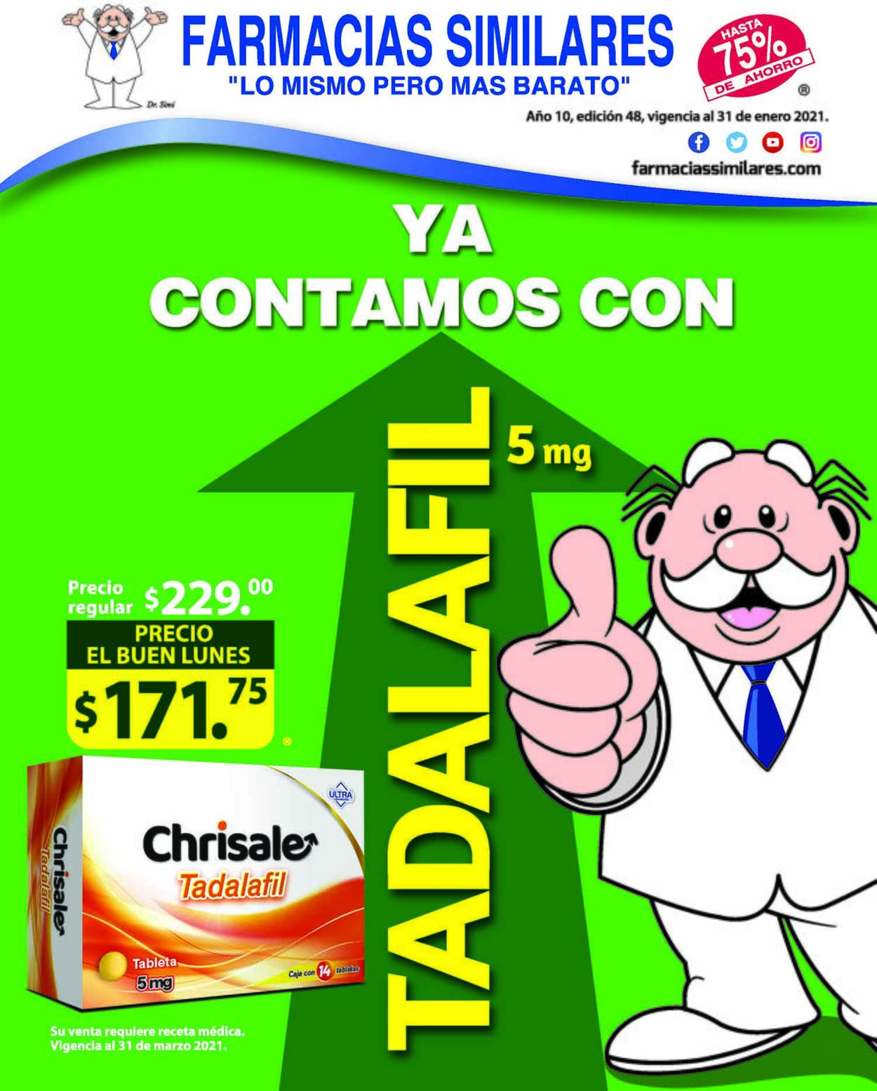 Farmacias Similares Folleto - 01.01-31.01.2021