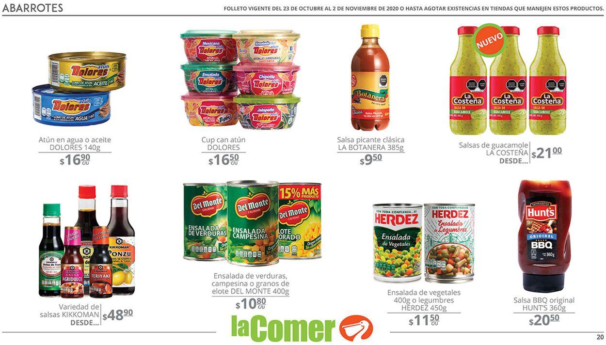 La Comer Folleto - 23.10-02.11.2020 (Página 20)