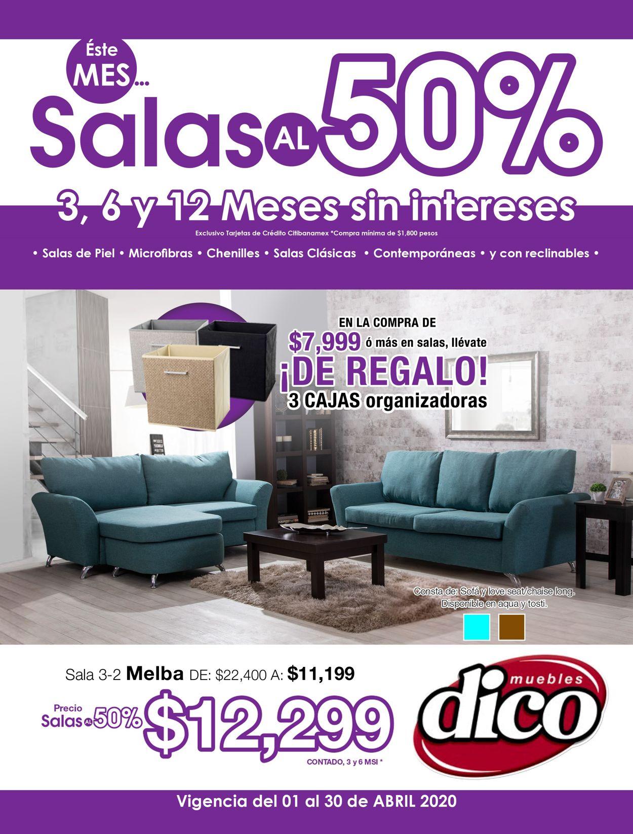 Muebles Dico Folleto - 01.04-30.04.2020