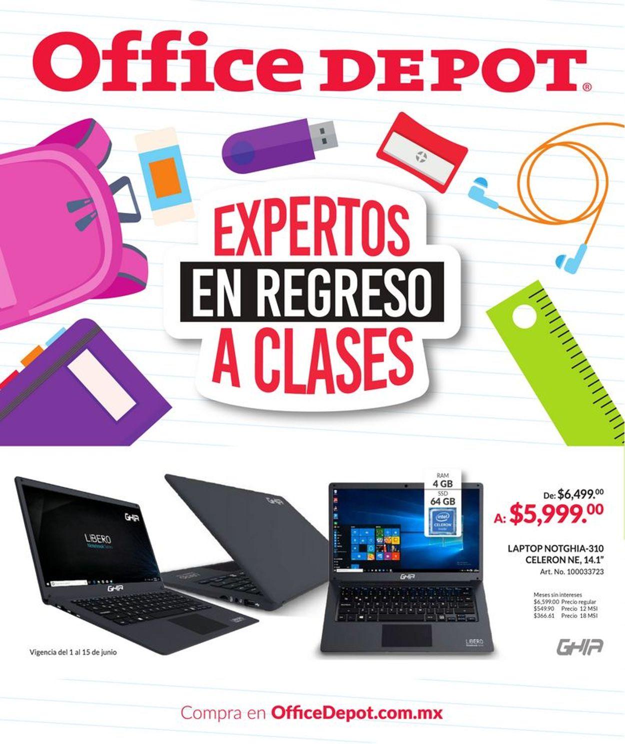 Office Depot Folleto - 01.06-15.06.2021
