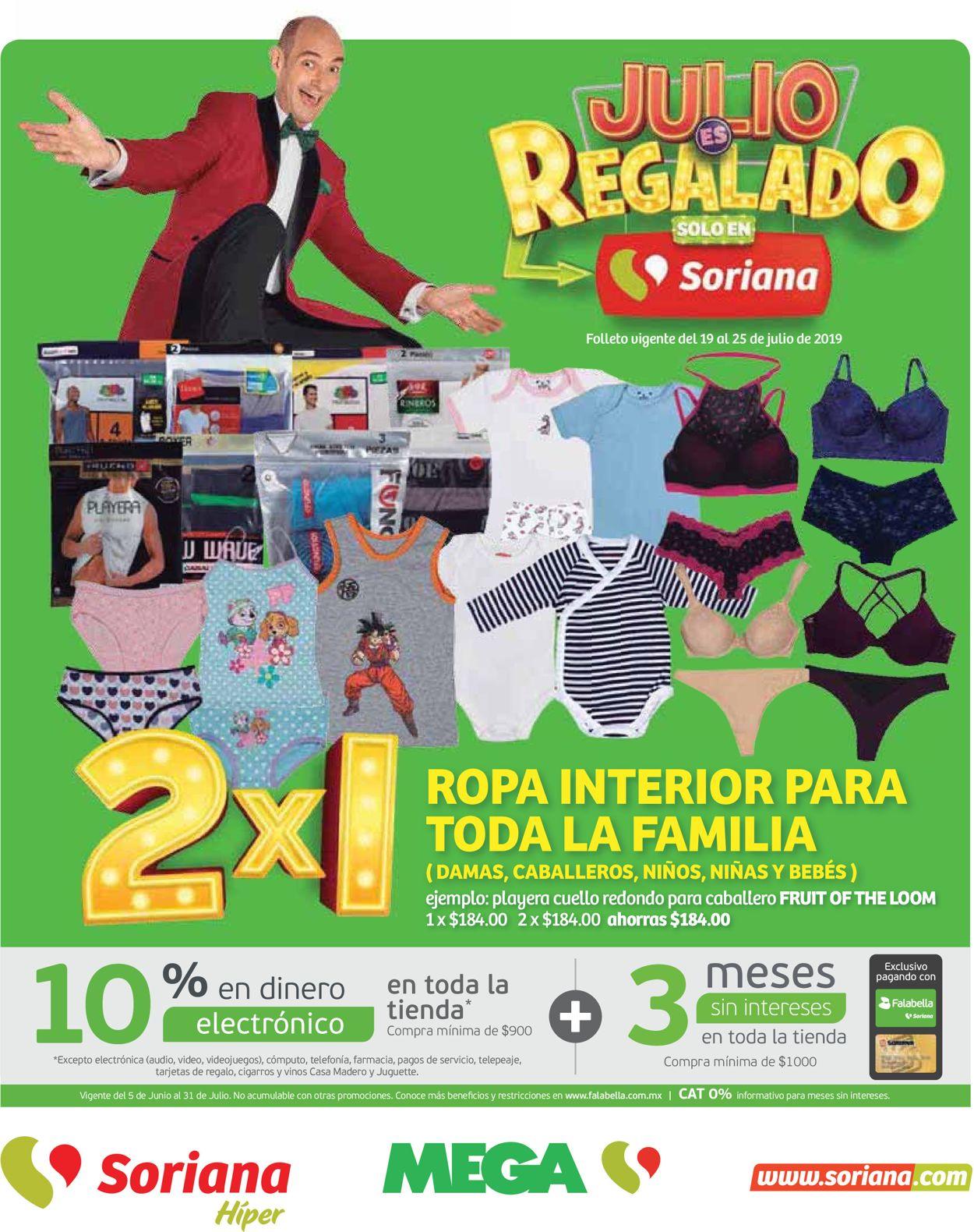 Soriana Folleto - 19.07-25.07.2019