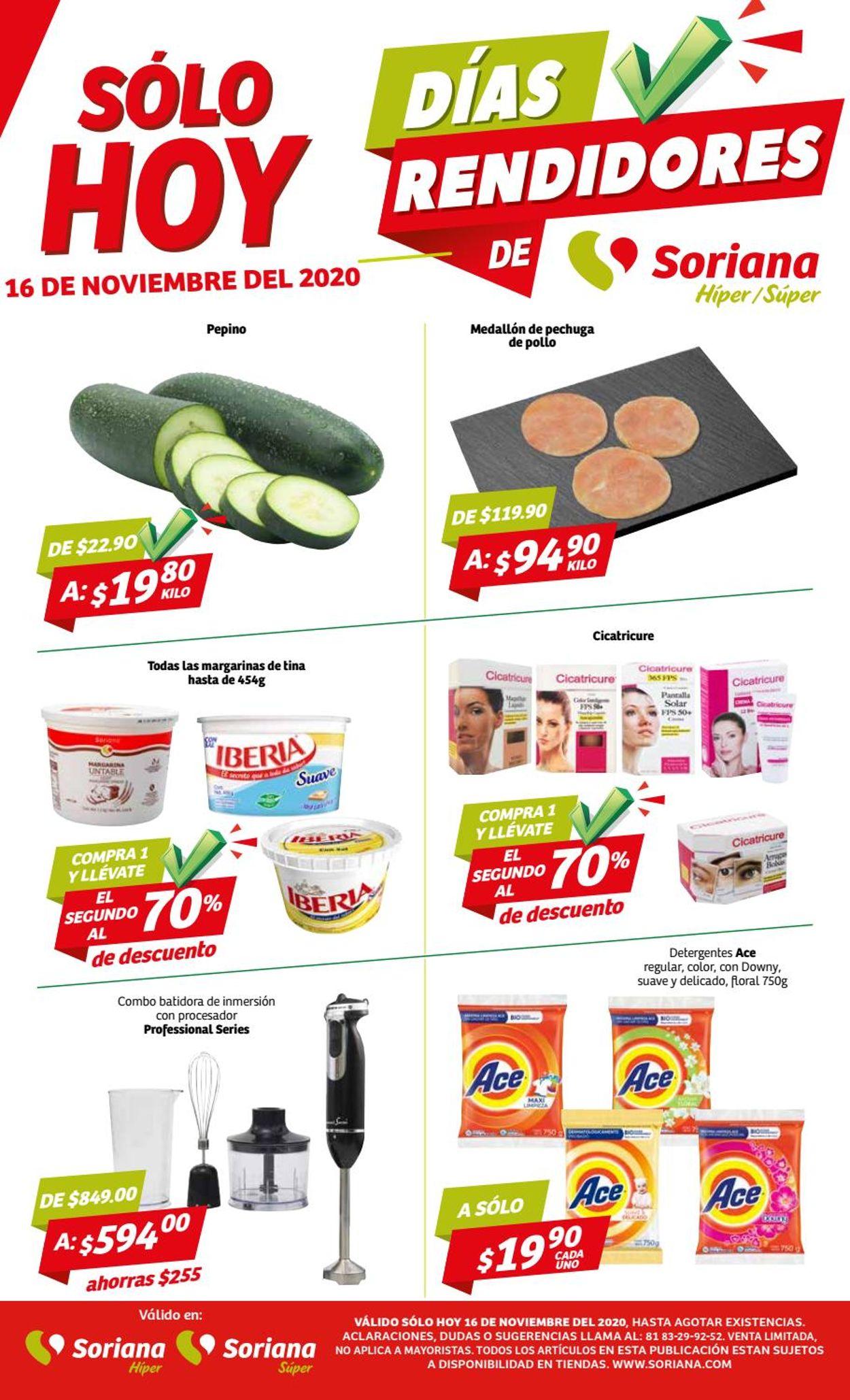 Soriana Folleto - 16.11-22.11.2020