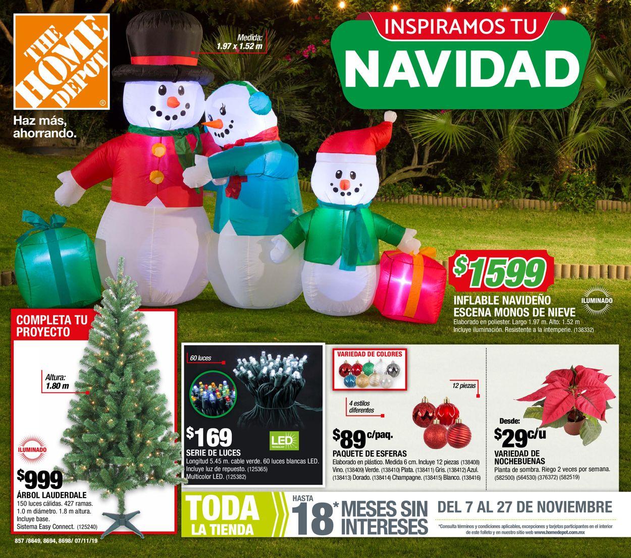 The Home Depot Catálogo Navideño 19/20 Folleto - 07.11-27.11.2019