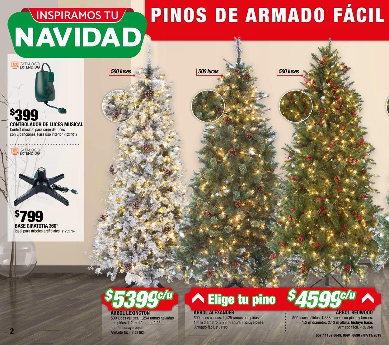 The Home Depot Catálogo Navideño 19/20 Folleto - 07.11-27.11.2019 (Página 2)