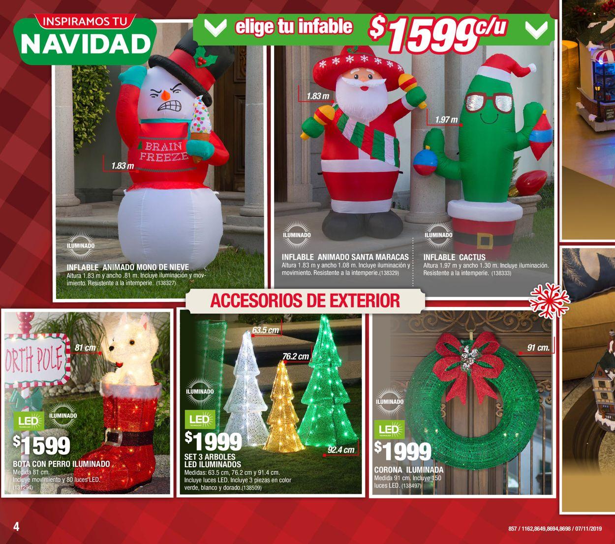 The Home Depot Catálogo Navideño 19/20 Folleto - 07.11-27.11.2019 (Página 4)