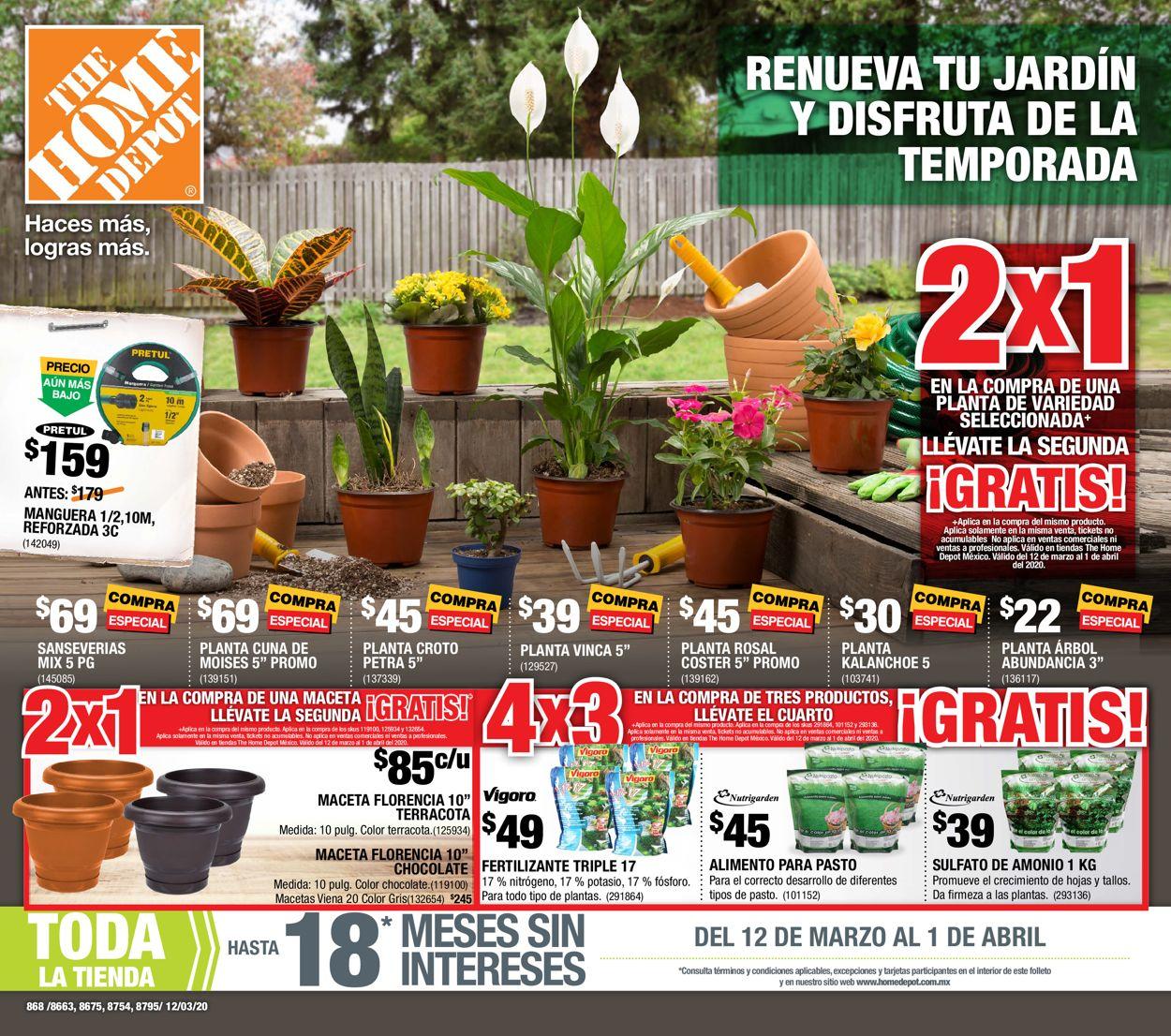 The Home Depot Folleto - 12.03-01.04.2020