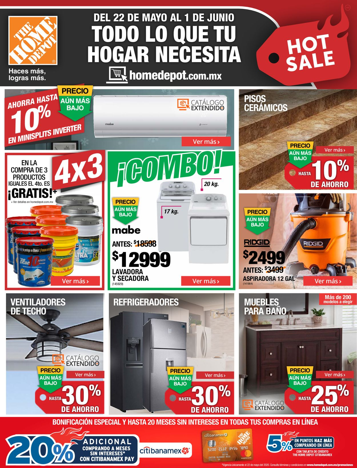 The Home Depot Folleto - 22.05-01.06.2020