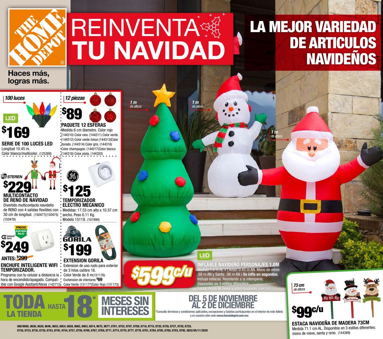 The Home Depot Navidad 2020 Folleto - 05.11-02.12.2020
