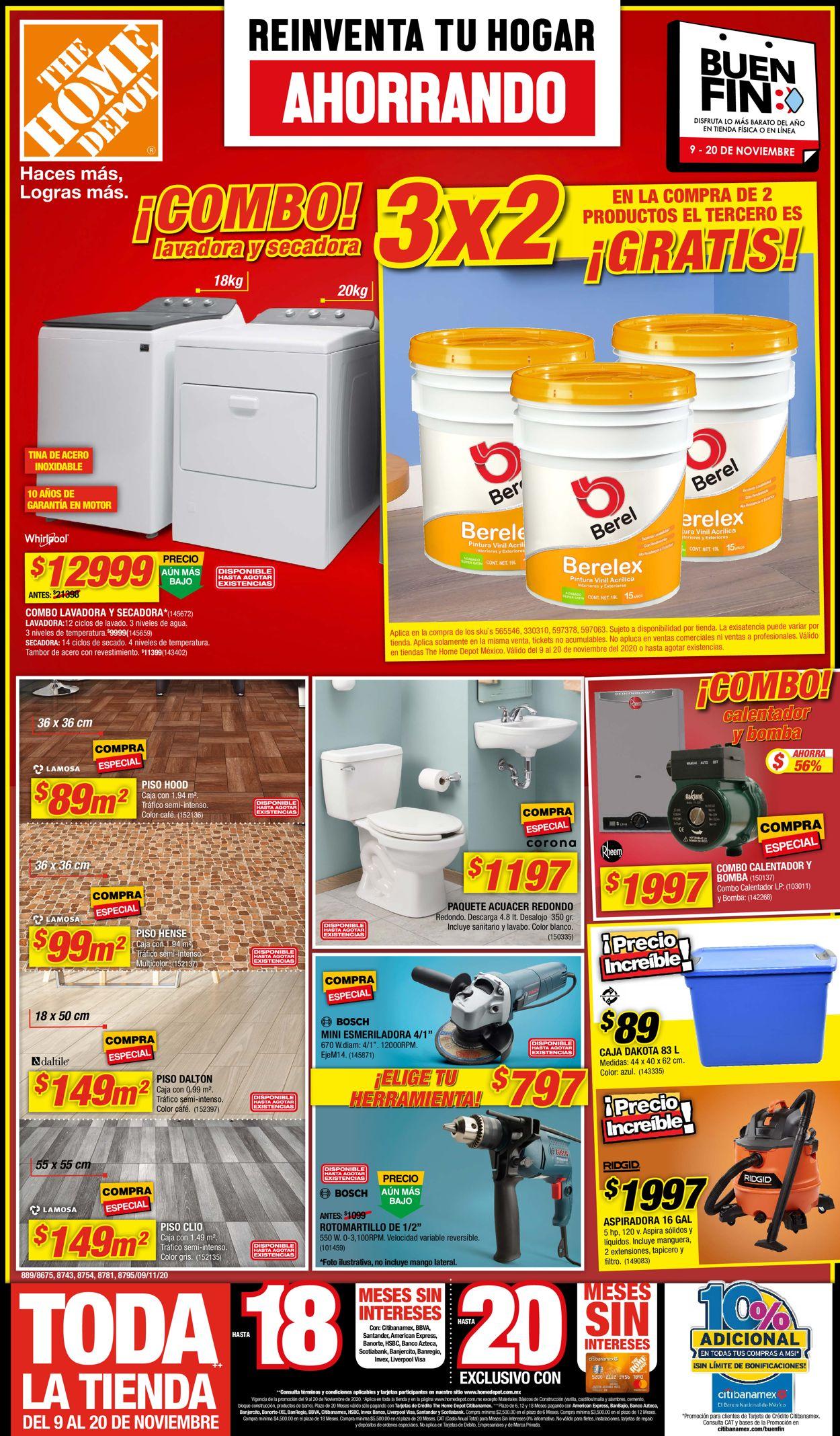 The Home Depot Folleto - 09.11-20.11.2020