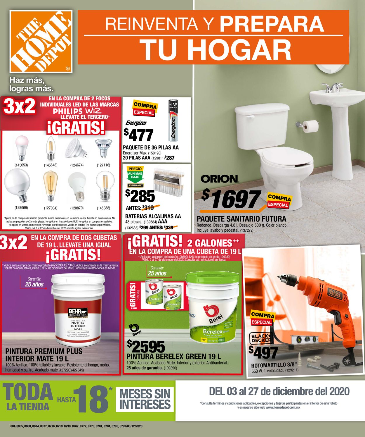 The Home Depot Folleto - 03.12-27.12.2020