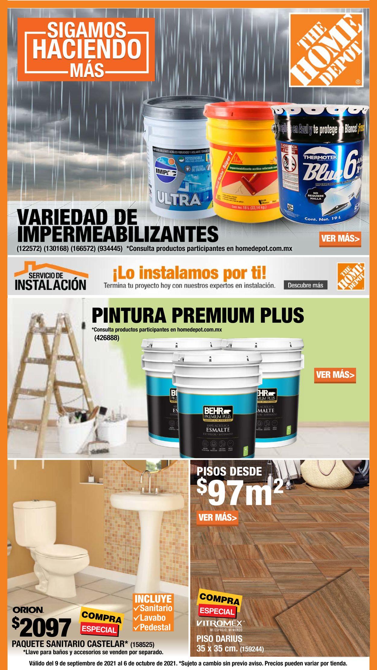 The Home Depot Folleto - 09.09-07.10.2021