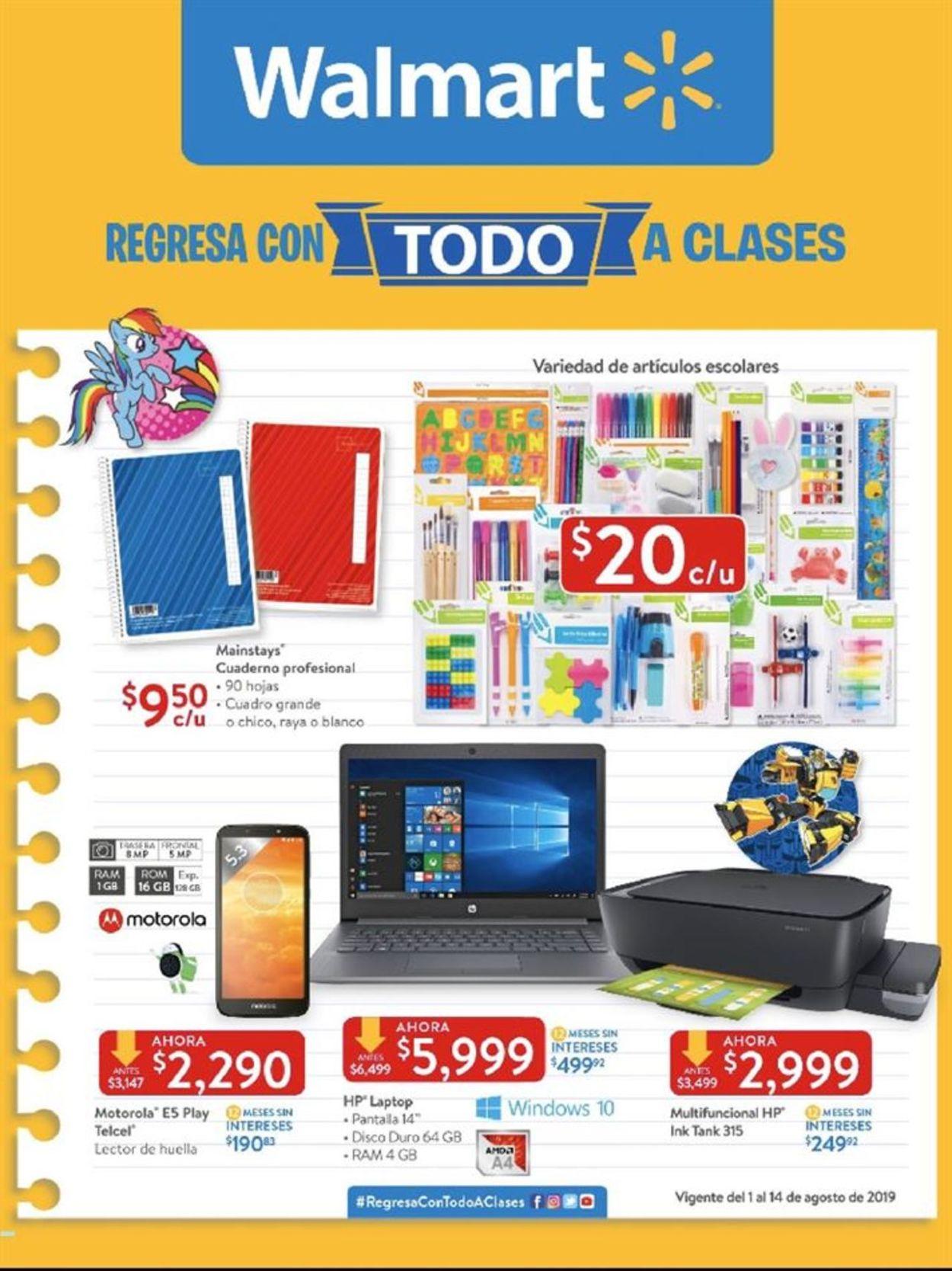 Walmart Folleto - 01.08-14.08.2019