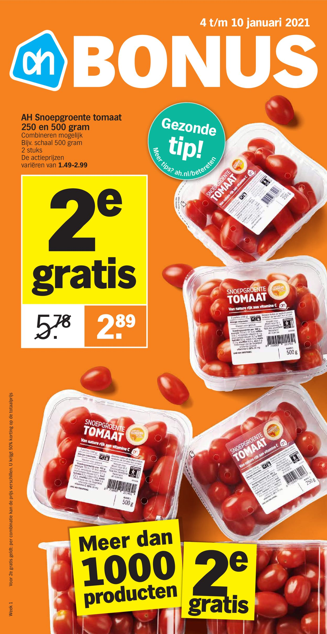 Albert Heijn Folder - 03.01-09.01.2021