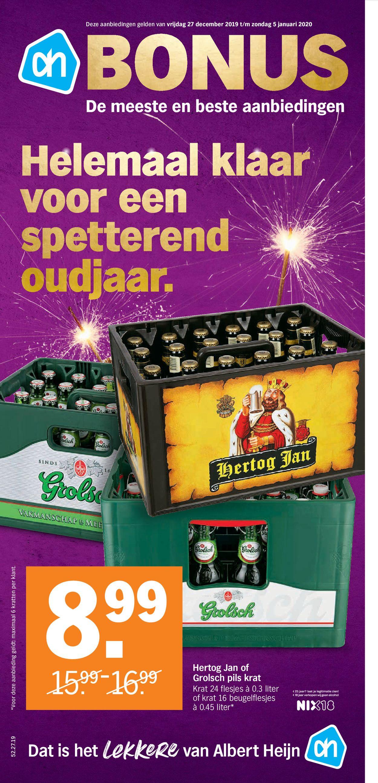 Albert Heijn - Nieuw Jaars Folder 2019/2020 Folder - 27.12-05.01.2020