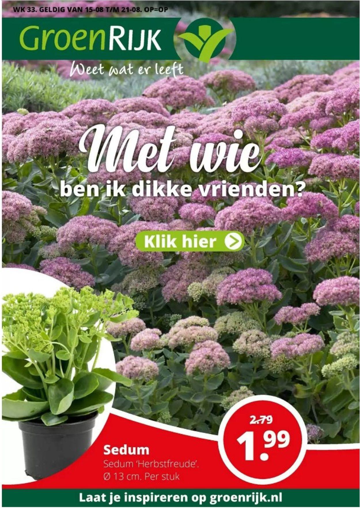 GroenRijk Folder - 15.08-21.08.2019