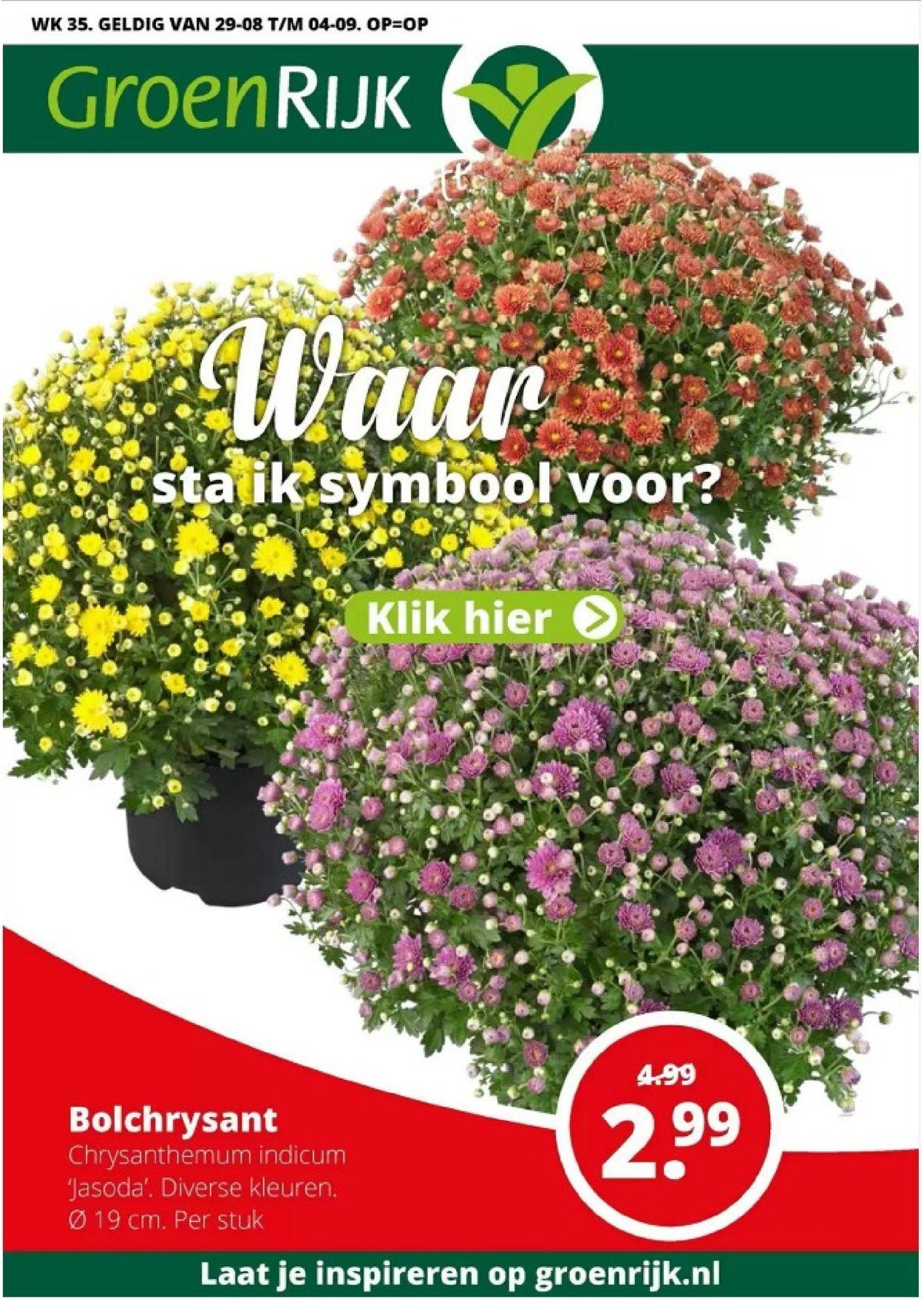 GroenRijk Folder - 29.08-04.09.2019