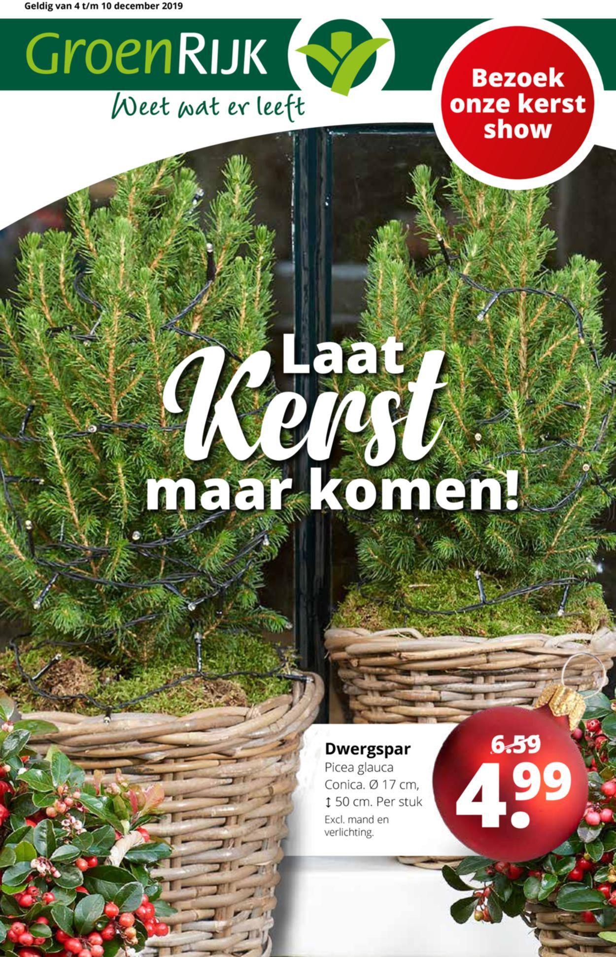GroenRijk kerstaanbieding 2019 Folder - 03.12-10.12.2019