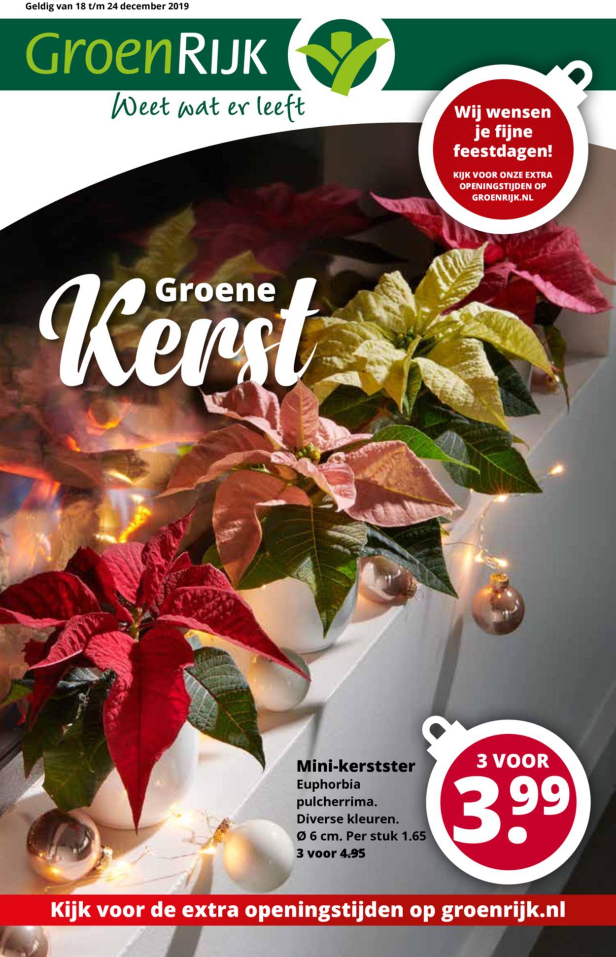 GroenRijk kerstaanbieding 2019 Folder - 18.12-24.12.2019