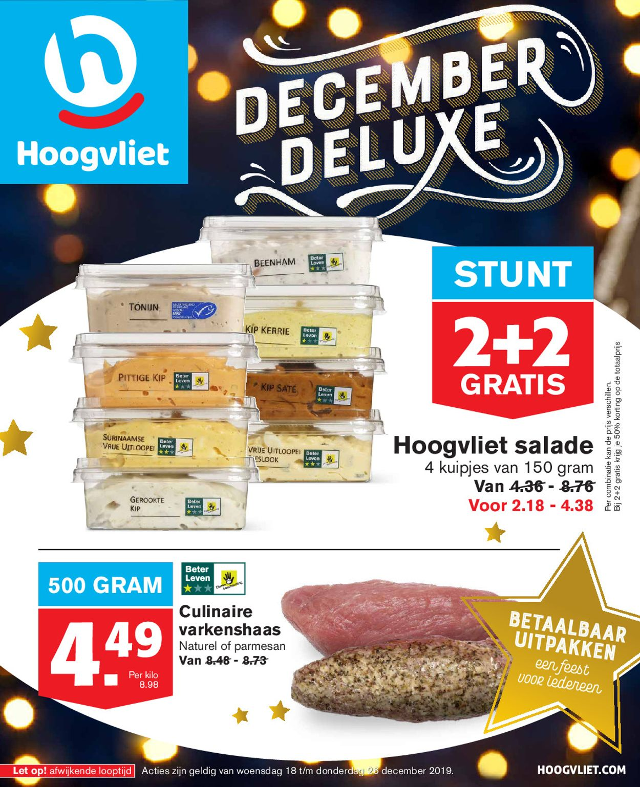 Hoogvliet kerstaanbieding 2019 Folder - 18.12-26.12.2019