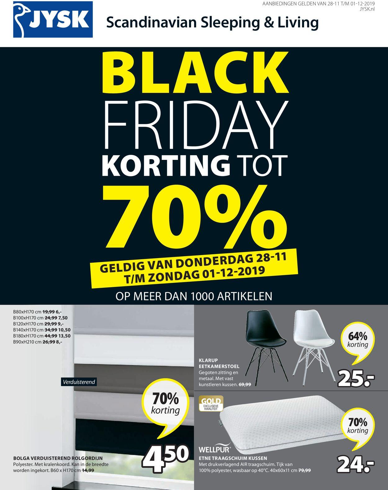 JYSK Black Friday 2019 Folder - 28.11-01.12.2019