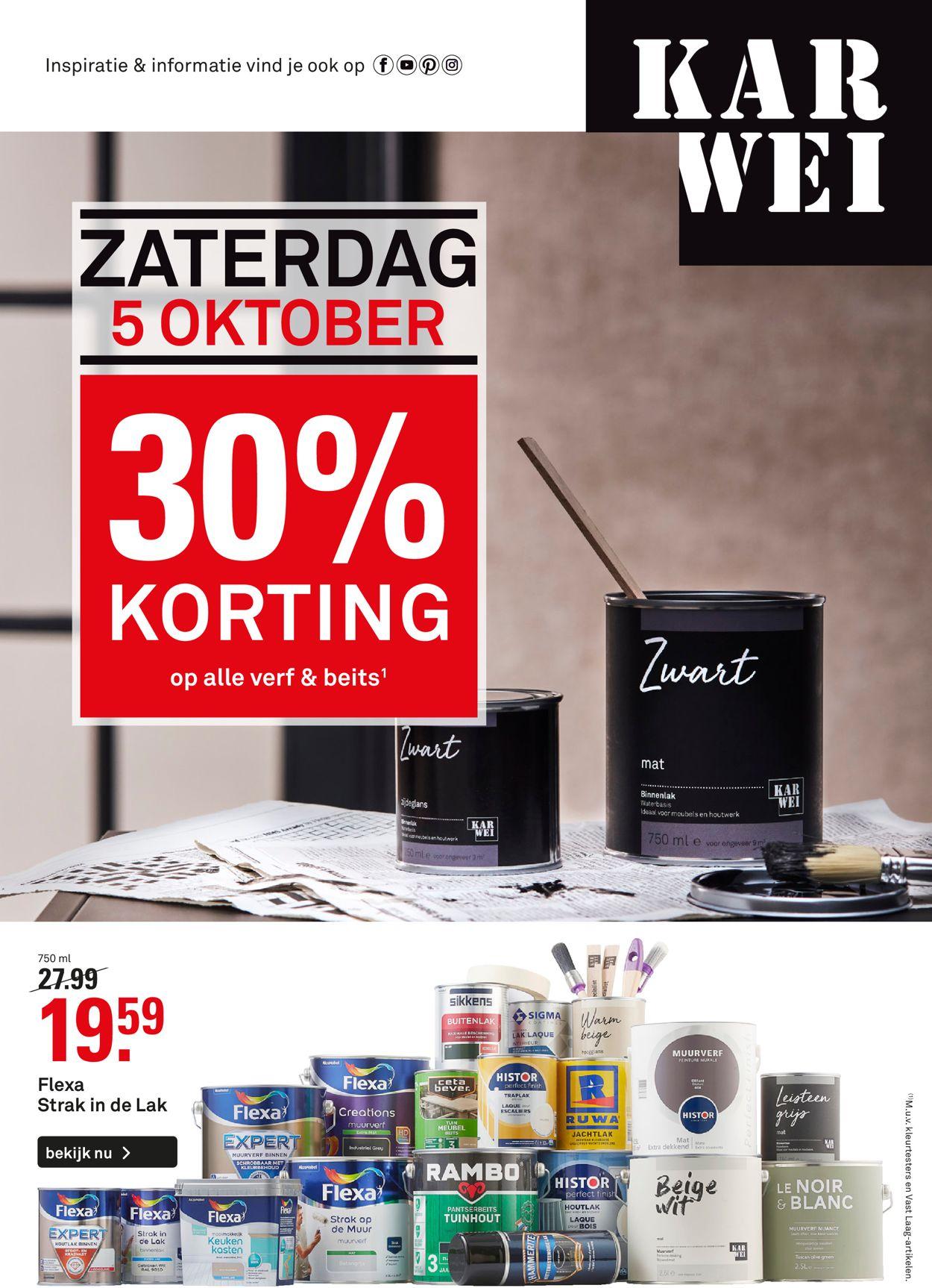 Karwei Folder - 30.09-13.10.2019