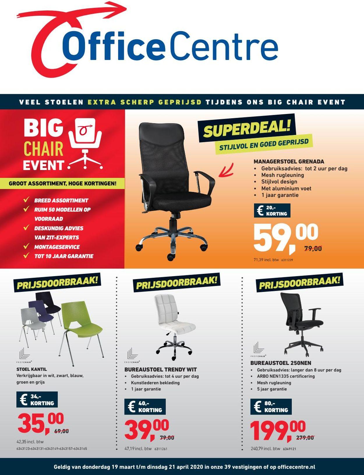 Office Centre Folder - 19.03-21.04.2020