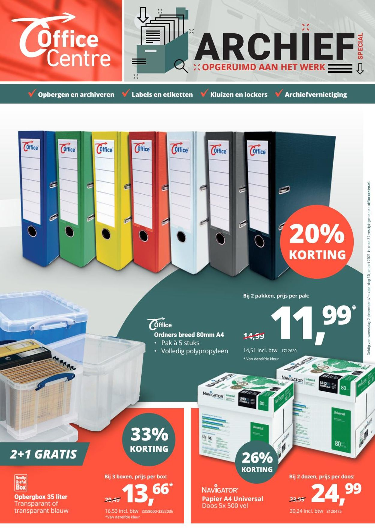 Office Centre Folder - 02.12-30.01.2021