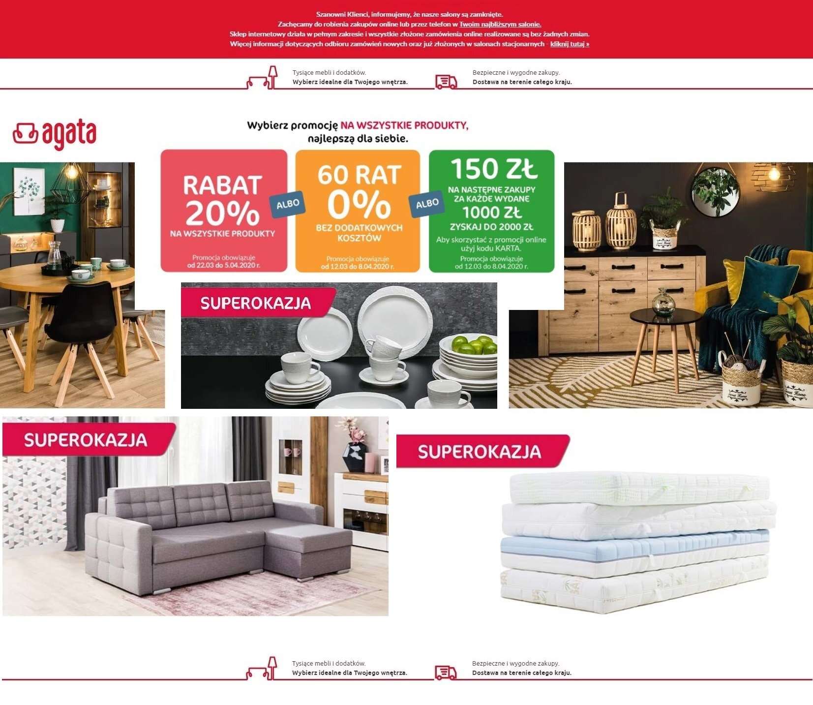 Gazetka promocyjna Agata Meble - 01.04-09.04.2020