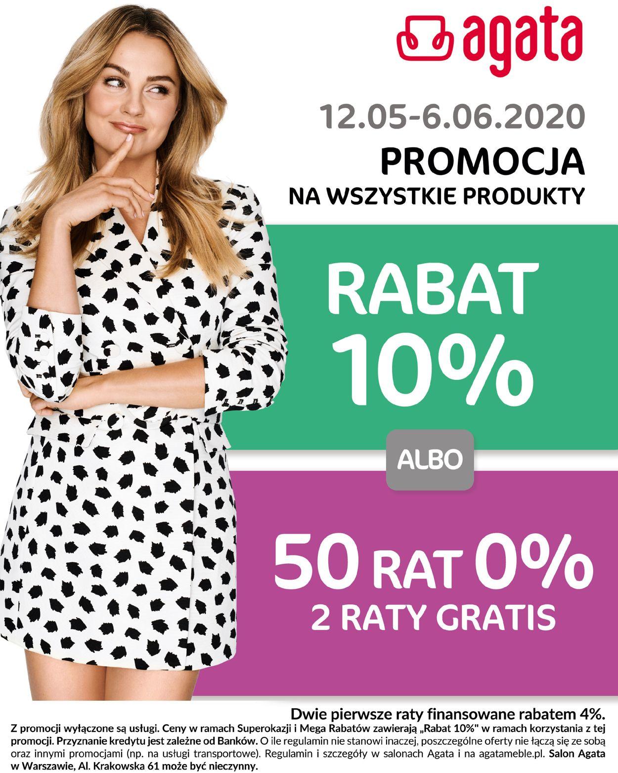 Gazetka promocyjna Agata Meble - 12.05-06.06.2020