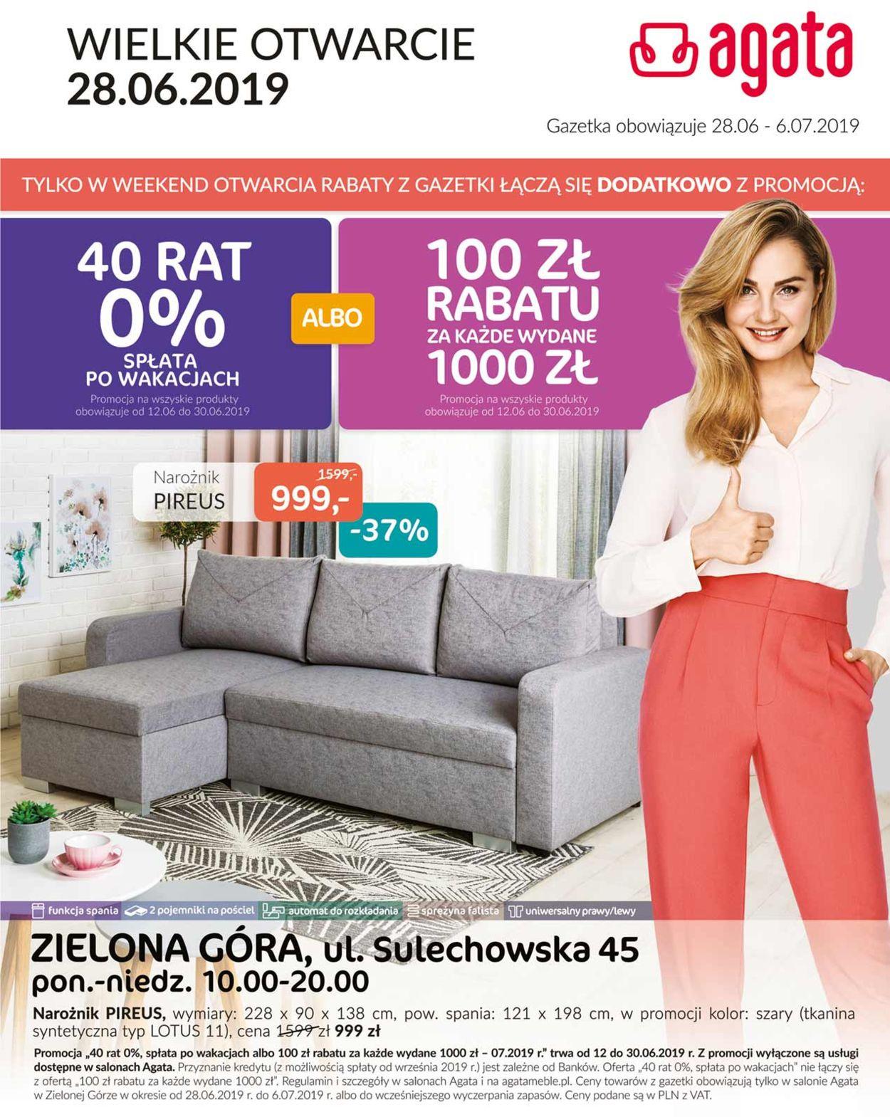 Gazetka promocyjna Agata Meble - 28.06-06.07.2019