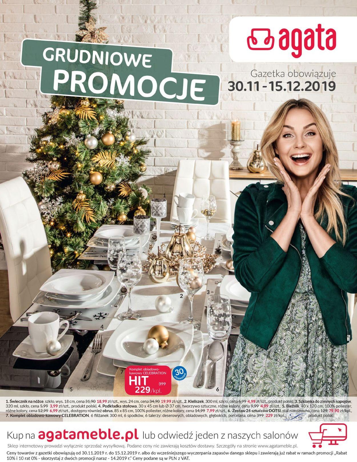 Gazetka promocyjna Agata Meble - 30.11-15.12.2019