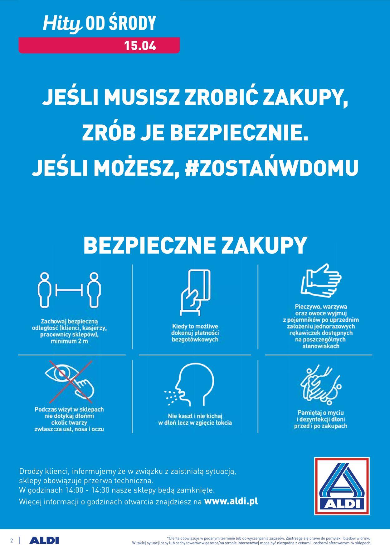 Gazetka promocyjna ALDI - 15.04-21.04.2020 (Strona 2)