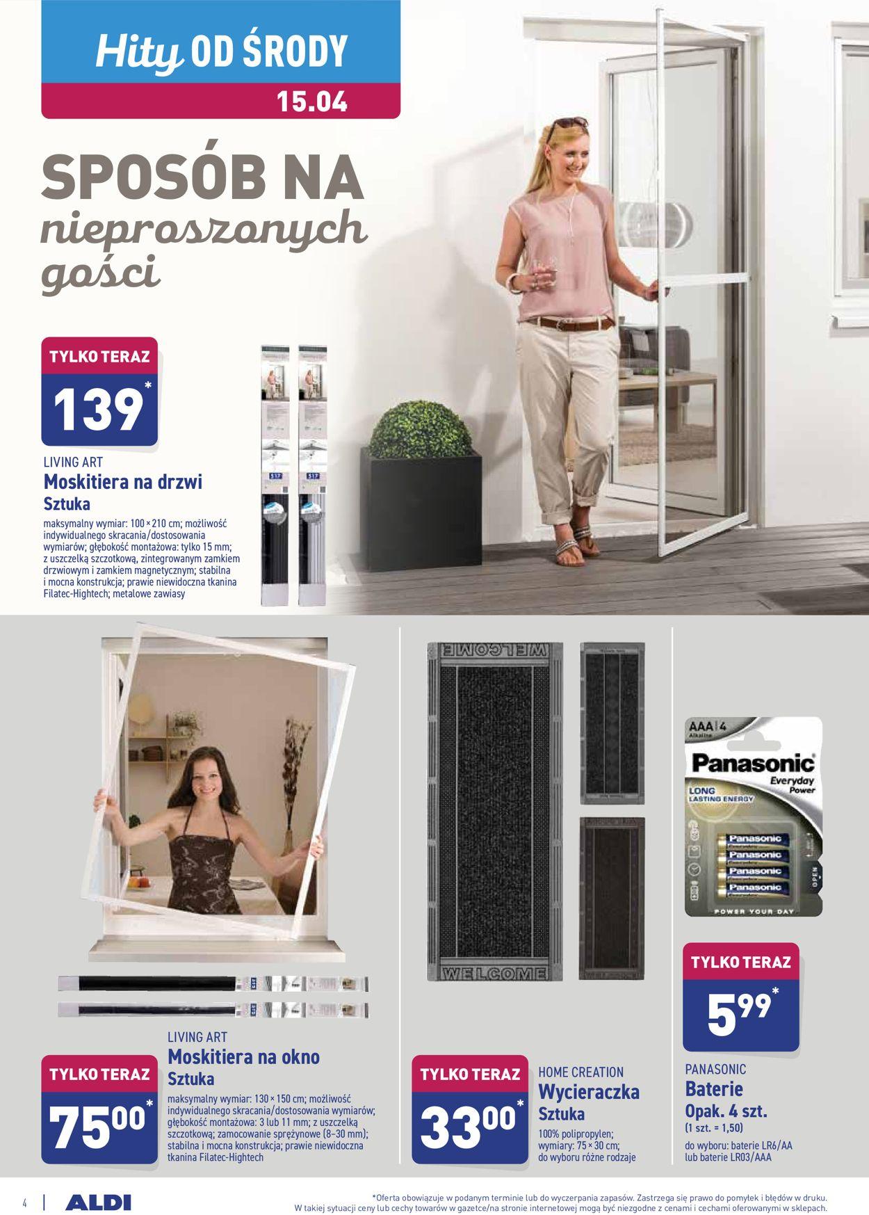 Gazetka promocyjna ALDI - 15.04-21.04.2020 (Strona 4)