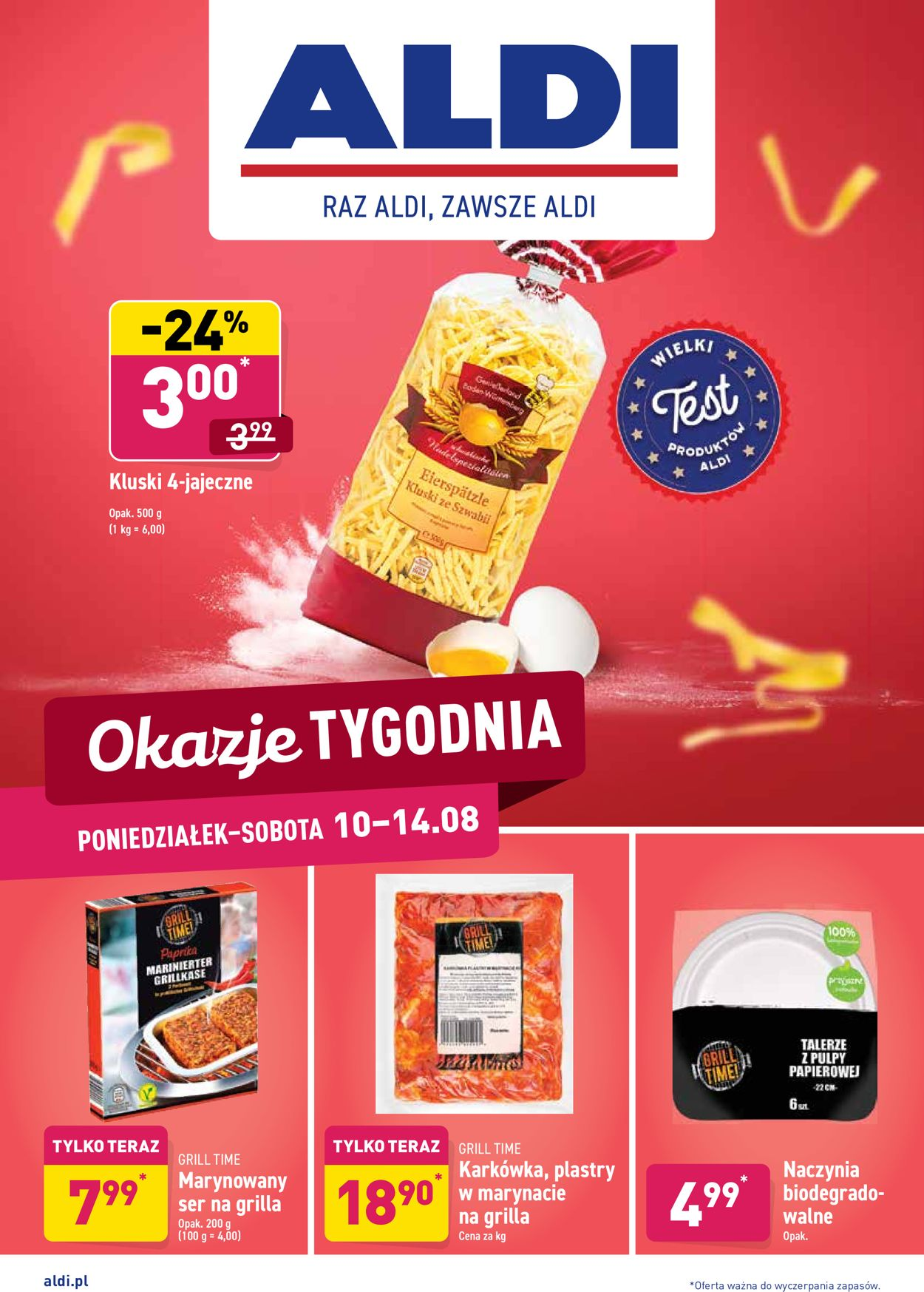 Gazetka promocyjna ALDI - 10.08-14.08.2020