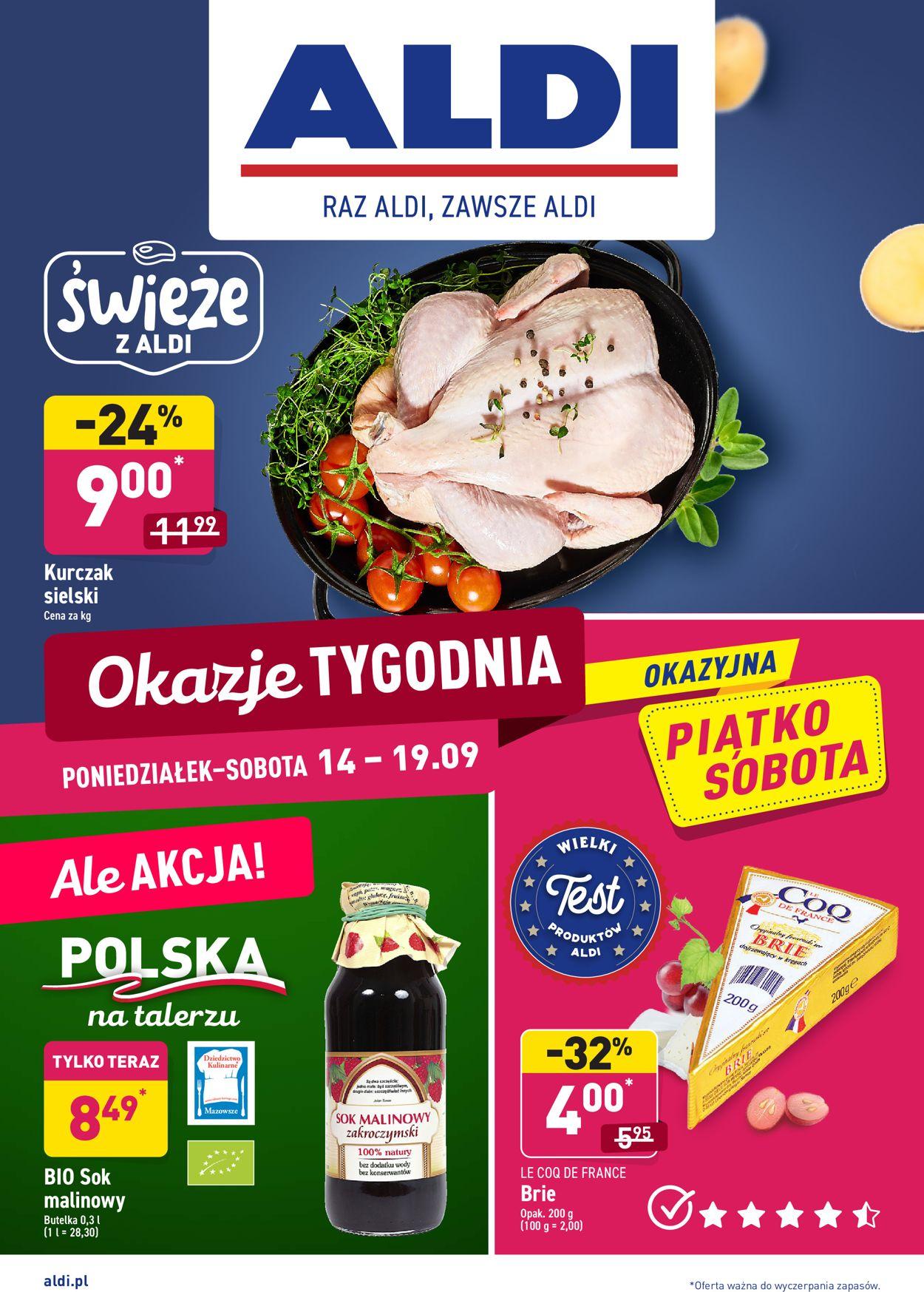 Gazetka promocyjna ALDI - 14.09-19.09.2020