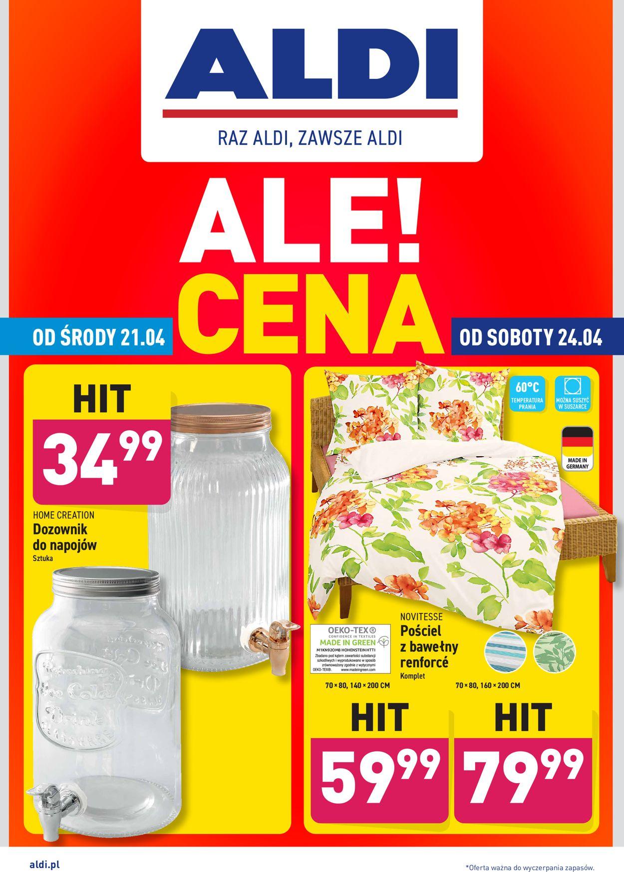 Gazetka promocyjna ALDI - 21.04-24.04.2021