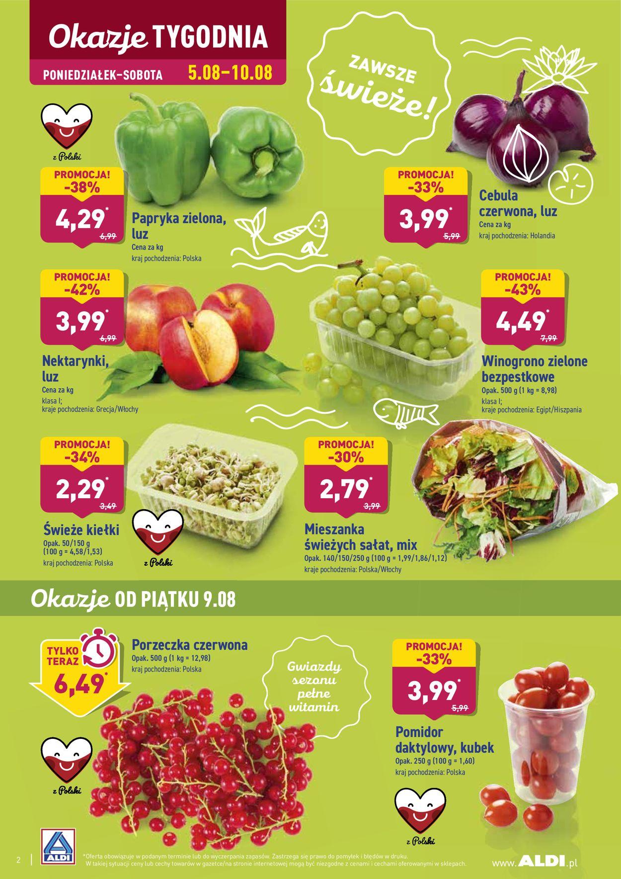 Gazetka promocyjna ALDI - 05.08-11.08.2019 (Strona 2)