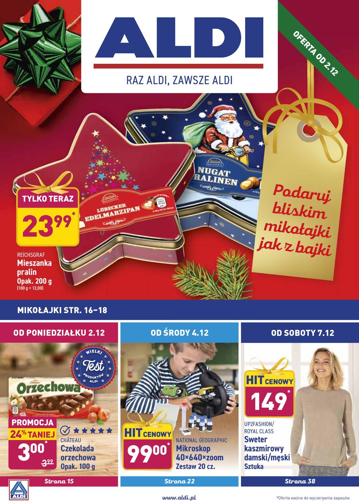 Gazetka promocyjna ALDI - Gazetka Świąteczna 2019 - 02.12-08.12.2019