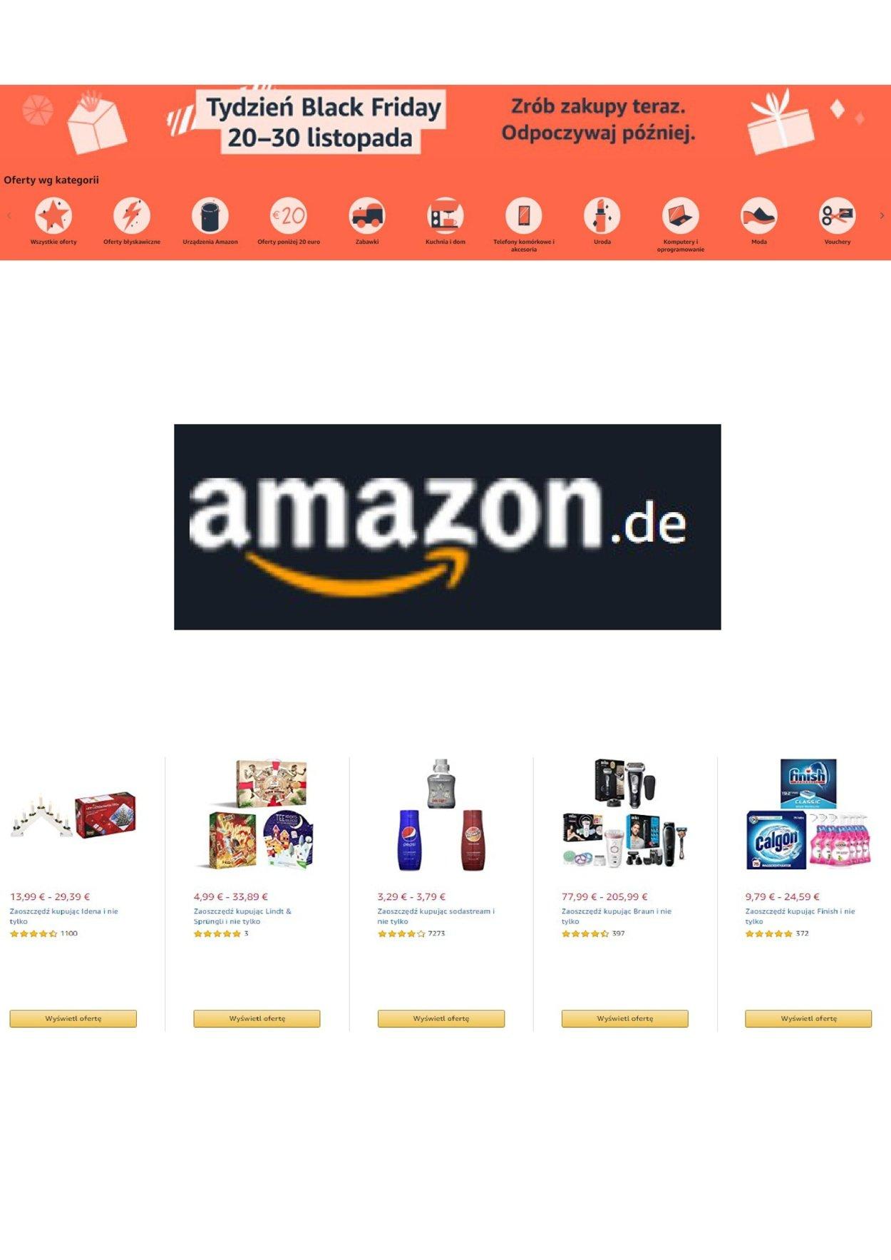 Gazetka promocyjna Amazon - 24.11-04.12.2020