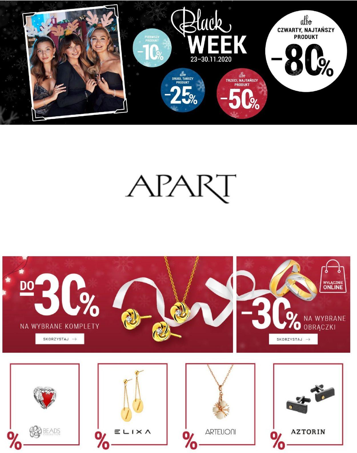 Gazetka promocyjna Apart Black Friday 2020 - 26.11-09.12.2020