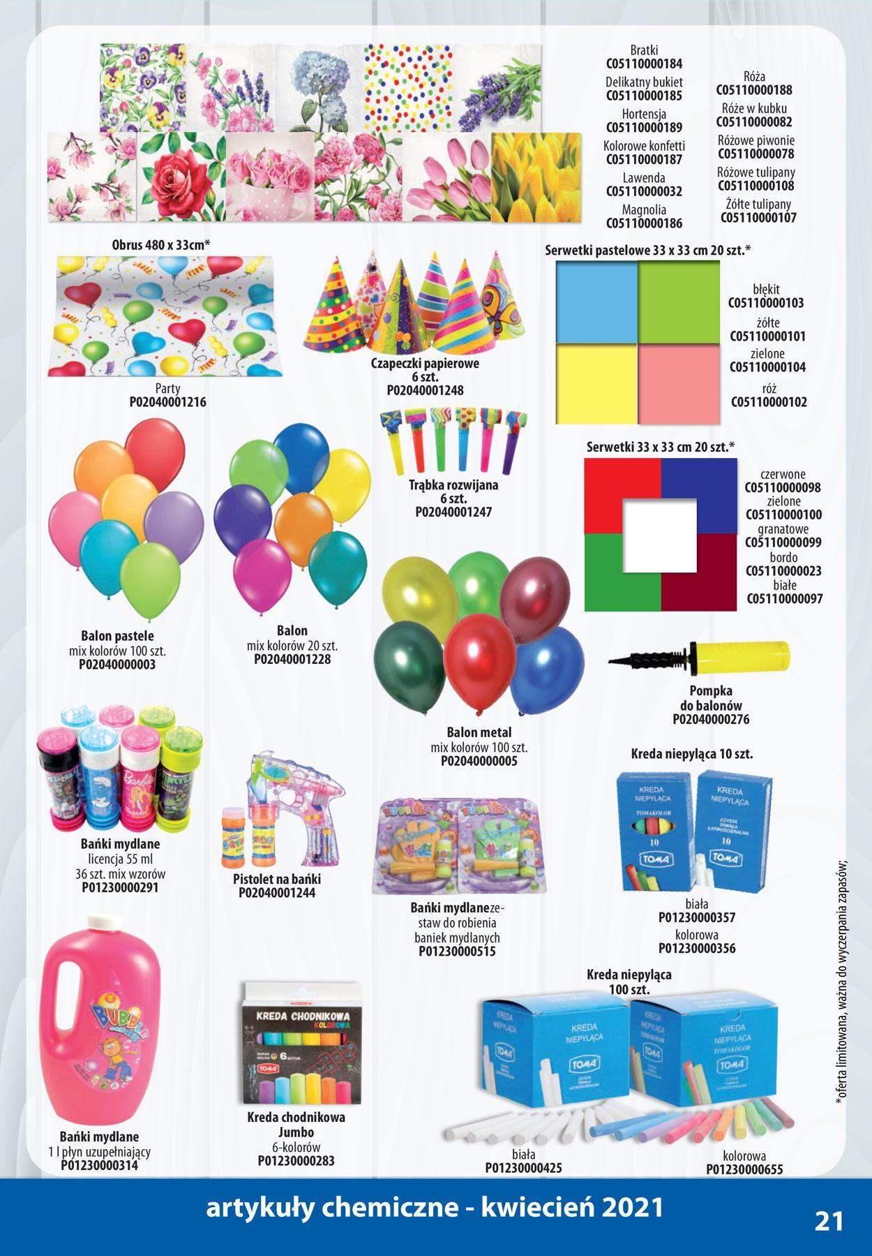 Gazetka promocyjna AT Chemia i Kosmetyki - 01.04-30.04.2021 (Strona 21)