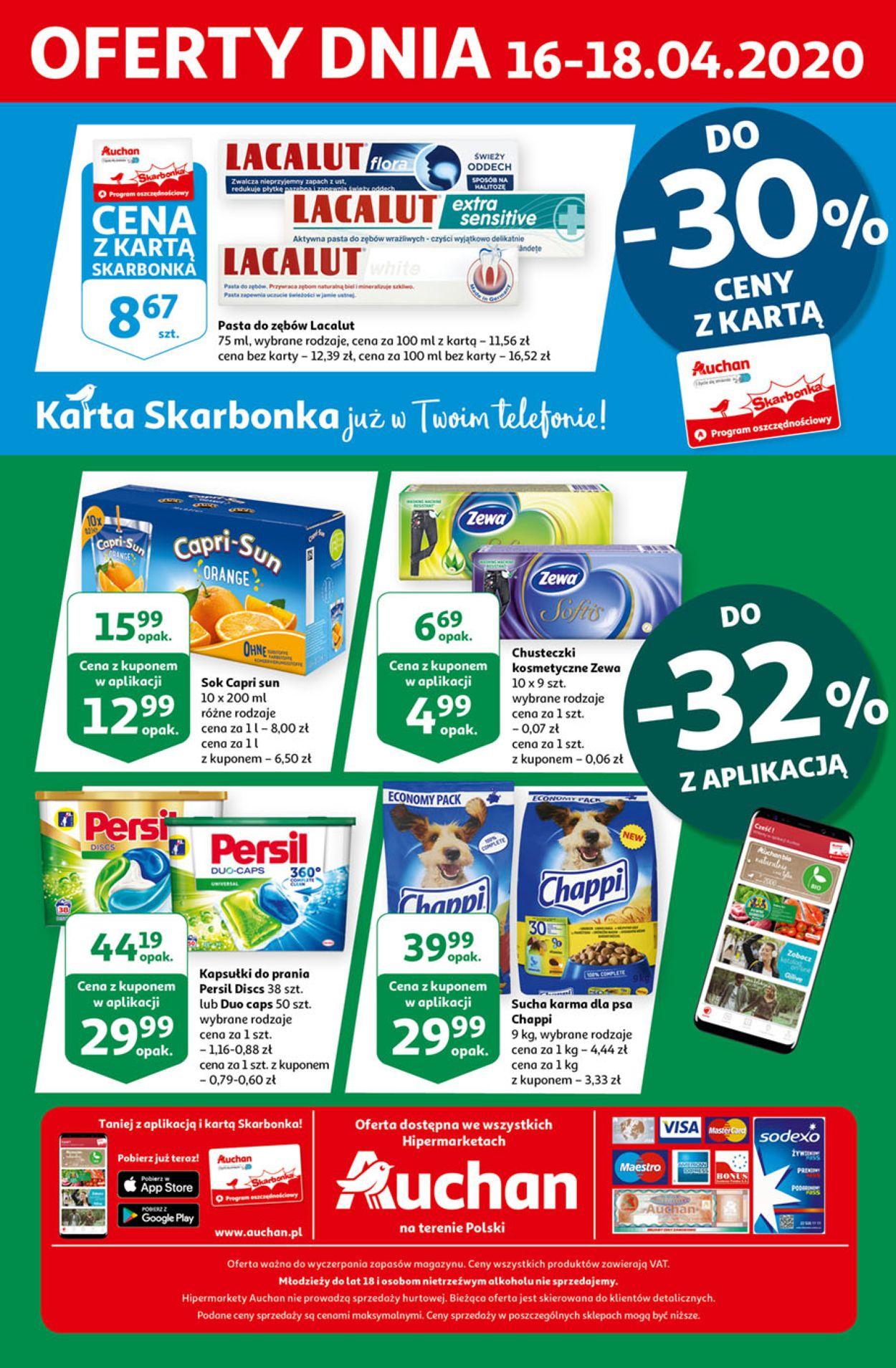 Gazetka promocyjna Auchan - 16.04-18.04.2020 (Strona 4)